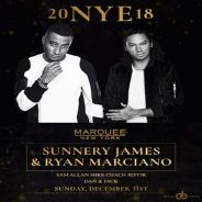 New Year's Eve at Marquee NYC with Sunnery James and Ryan Marciano