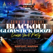 NYC Summer Midnight Glowsticks Booze Cruise Yacht Party